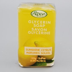 Alpen Secrets Glycerine Soap Citrus 105g