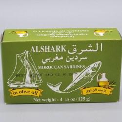 Alshark Sardines in Olive Oil 4oz