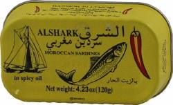 Alshark Sardines in Spicy Oil 4oz