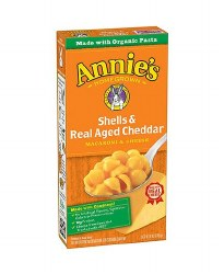 Annie's Shells and Aged Cheddar Cheese, Macaroni and Cheese 6oz