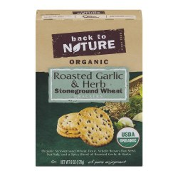 Back to Nature Stoneground Wheat Crackers Roasted Garlic and Herb 6oz