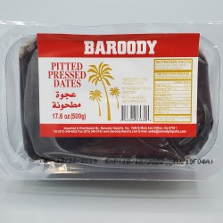 Baroody Pitted Pressed Dates 500g