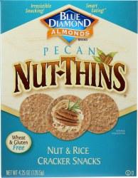 Blue Diamond Pecan Nut Things, Nut and Rice Cracker Snacks 4.25oz