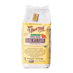 Bob's Red Mill Organic Whole Grain Stone Ground Dark Rye Flour 22oz