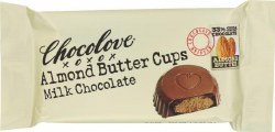 Chocolove MIlk Chocolate Peanut Butter Cups with Almond 2 pc