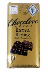Chocolove Extra Strong 77% Dark Chocolate 3.2 oz
