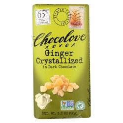 Chocolove Crystallized Ginger in Dark Chocolate 3.2 oz