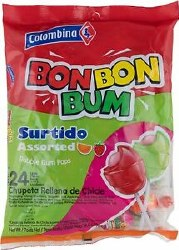 Colombiana Bob Bon Bum Candy 24pc
