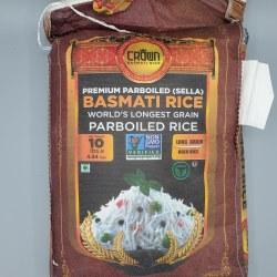 Crown Sella Basmati Rice 10 lb