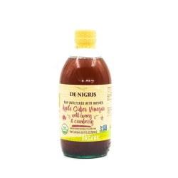 De Nigris Apple Cider Vinegar Cranberry Honey Organic  500ml