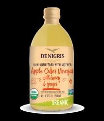 De Nigris Apple Cider Vinegar Ginger Honey Organic 500ml