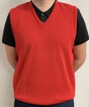 Balmoral V-Neck Vest 48 Red