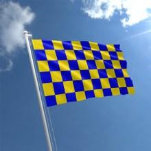 CHECKERED FLAGS 5X3 5X3 BLUE/A