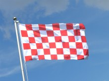 CHECKERED FLAGS 5X3 5X3 RED/WH