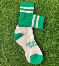 Club Sock Adult Medium Green/W