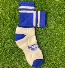 Club Sock Adult Large Royal/Wh