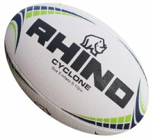 Rhino Cyclone Rugby Ball 4 Whi