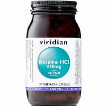 Betaine Hcl W Gentian 90 Caps