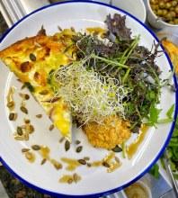 Frittata, Leaves And Hummus