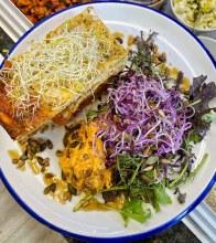 Lasagne, Leaves And Hummus