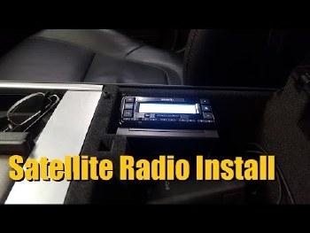 SAT RADIO INSTALL
