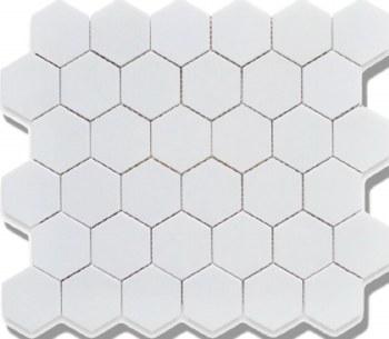 2X2 HEXAGON WHITE PORCELAIN