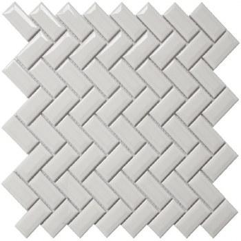 COLOR COLLECTION - DIAMOND HERRINGBONE WHITE CERAMIC
