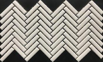 COLOR COLLECTION - HERRINGBONE WHITE CERAMIC