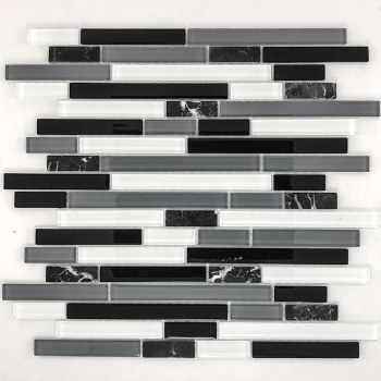BLACK & WHITE LINER  GLASS