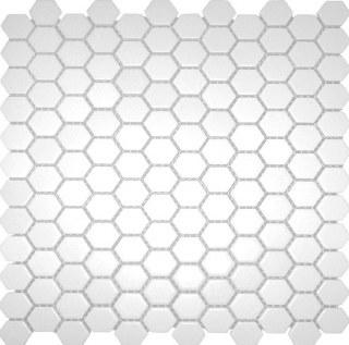 1X1 HEXAGON WHITE PORCELAIN