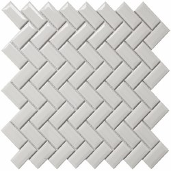COLOR COLLECTION - DIAMOND HERRINGBONE WHITE CERAMIC