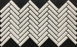 COLOR COLLECTION - HERRINGBONE WHITE CERAMIC