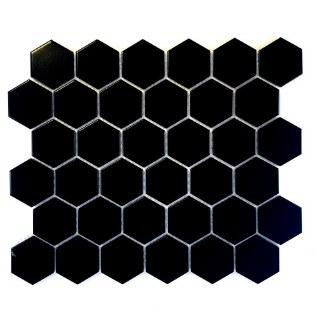 2X2 HEXAGON BLACK PORCELAIN