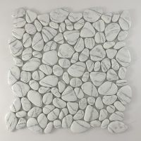 FLAT PEBBLE SUPER WHITE POLISHED STONE