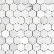 BIANCO CARRARA HEXAGON MARBLE
