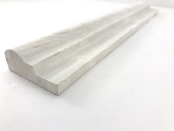 OGEE WOODEN WHITE MARBLE