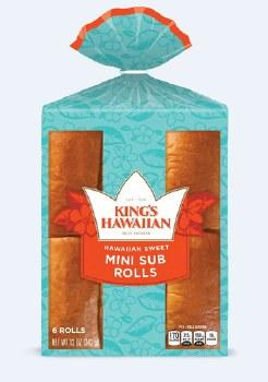 Bread - King's Hawaiian Mini Sub Rolls 6 ct