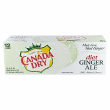 Canada Dry Diet Ginger Ale 12 oz 12 Pack