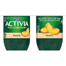 Yogurt - Activia Peach 4 oz 4 ct