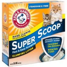 Cat Liter - Arm & Hammer Super Scoop Fragrance Free 20 lb