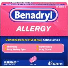 Allergy - Benadryl Tablets 48 ct
