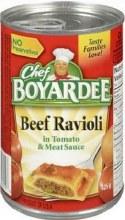 Canned Pasta - Chef Boyardee Beef Ravioli 15 oz