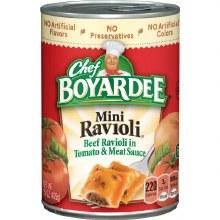 Canned Pasta - Chef Boyardee Mini Beef Ravioli 15 oz