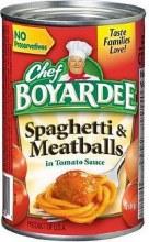 Canned Pasta - Chef Boyardee Spaghetti & Meatballs 14.5 oz