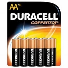 Batteries - Duracell AA Coppertop 10 ct