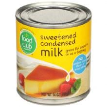 Condensed Milk - Food Club Sweetened 14 oz