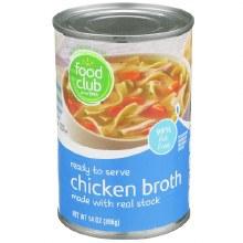 Broth - Food Club Chicken 14 oz