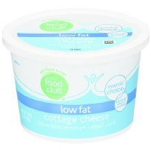 Cottage Cheese - Food Club Low Fat 16 oz
