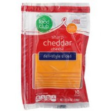 Cheese - Food Club Sharp Cheddar Slices 8 oz
