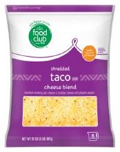 Cheese - Food Club Shredded Taco Blend 2 lnb